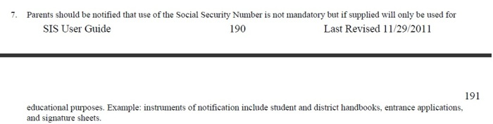 SSN numbers cannot be made mandatory