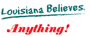 louisiana believes anything logo