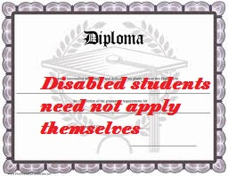 diploma disabled
